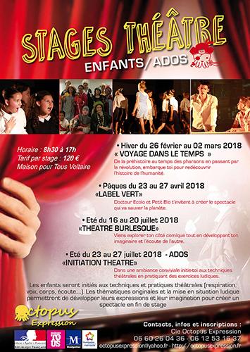 Stage de Théâtre Enfants du 26 Février au 02 Mars 2018