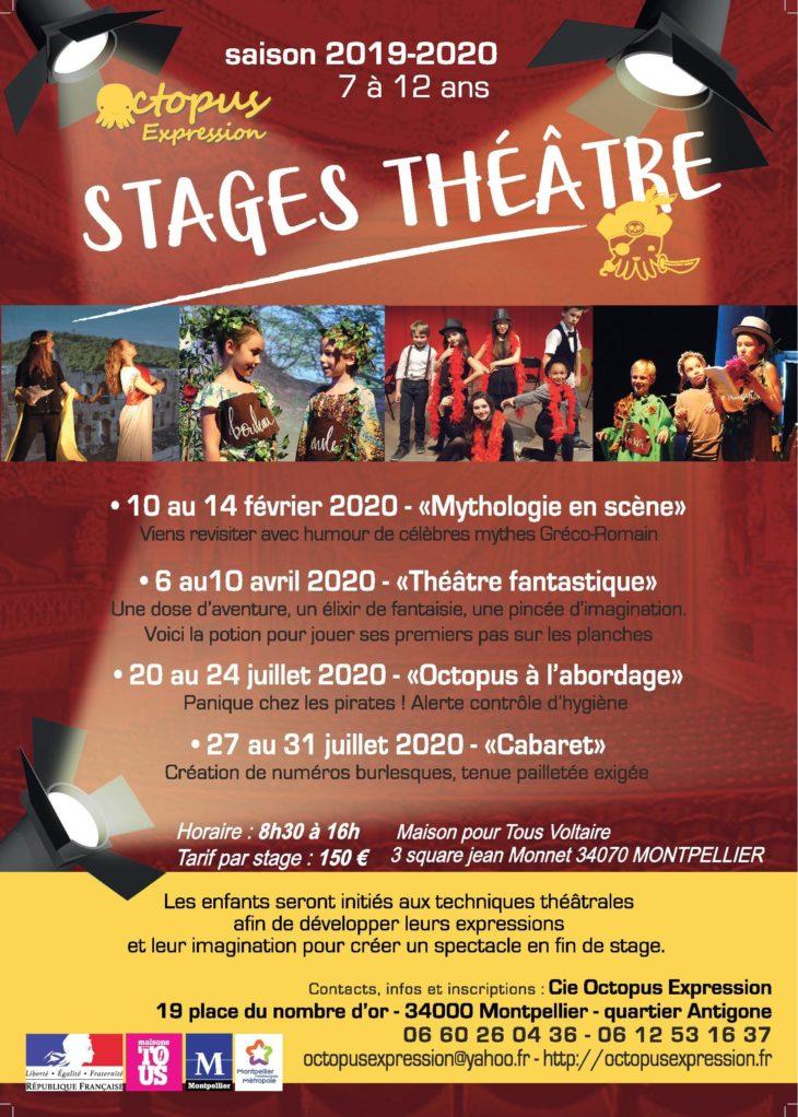 Stages théâtre vacances pour enfants à Montpellier