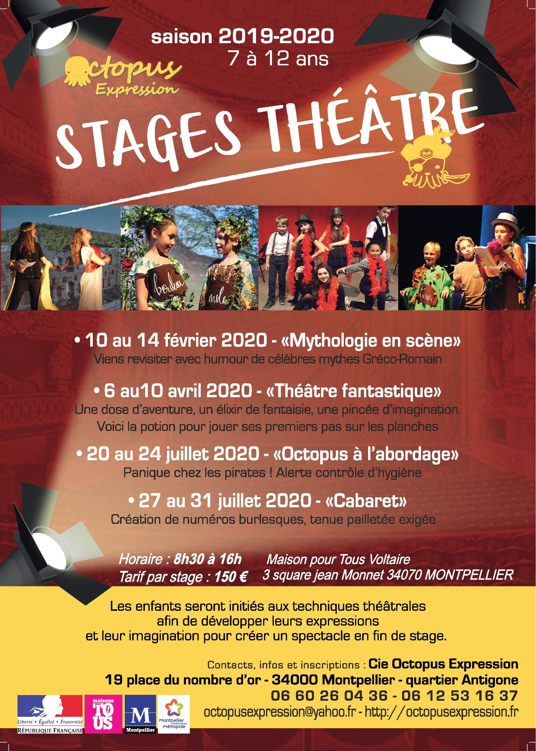 Stages théâtre enfants