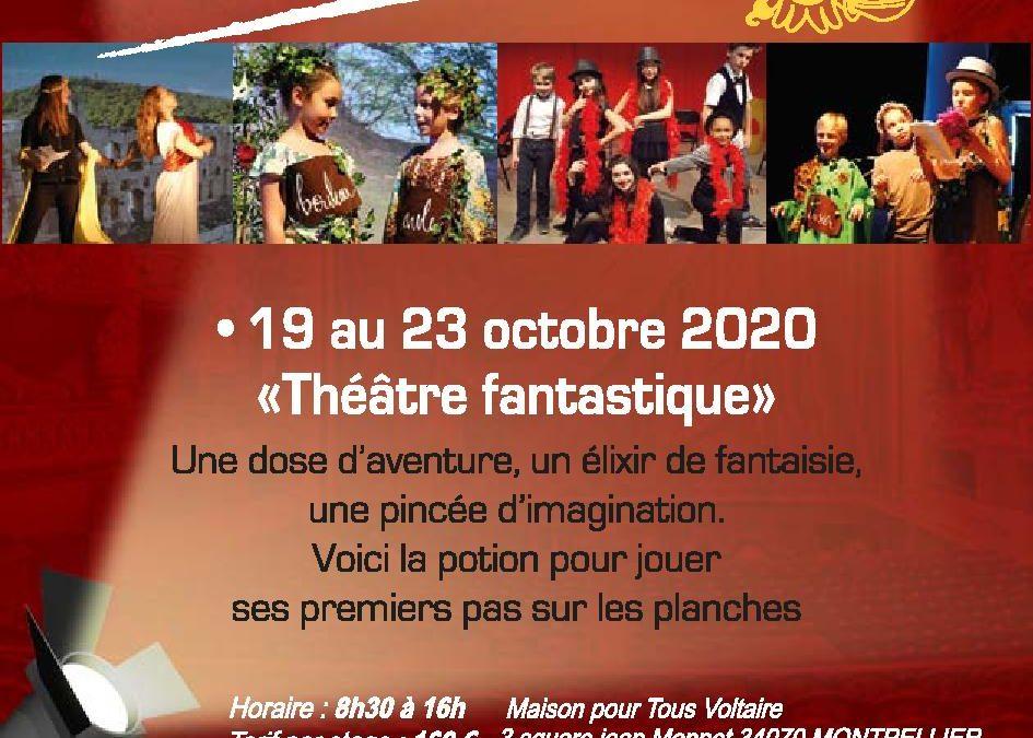 STAGE TOUSSAINT DU 19 AU 23 OCTOBRE 2020