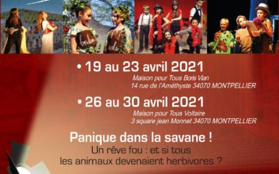 STAGE ENFANTS 19 AU 23 AVRIL OU 26 AU 30 AVRIL 2021