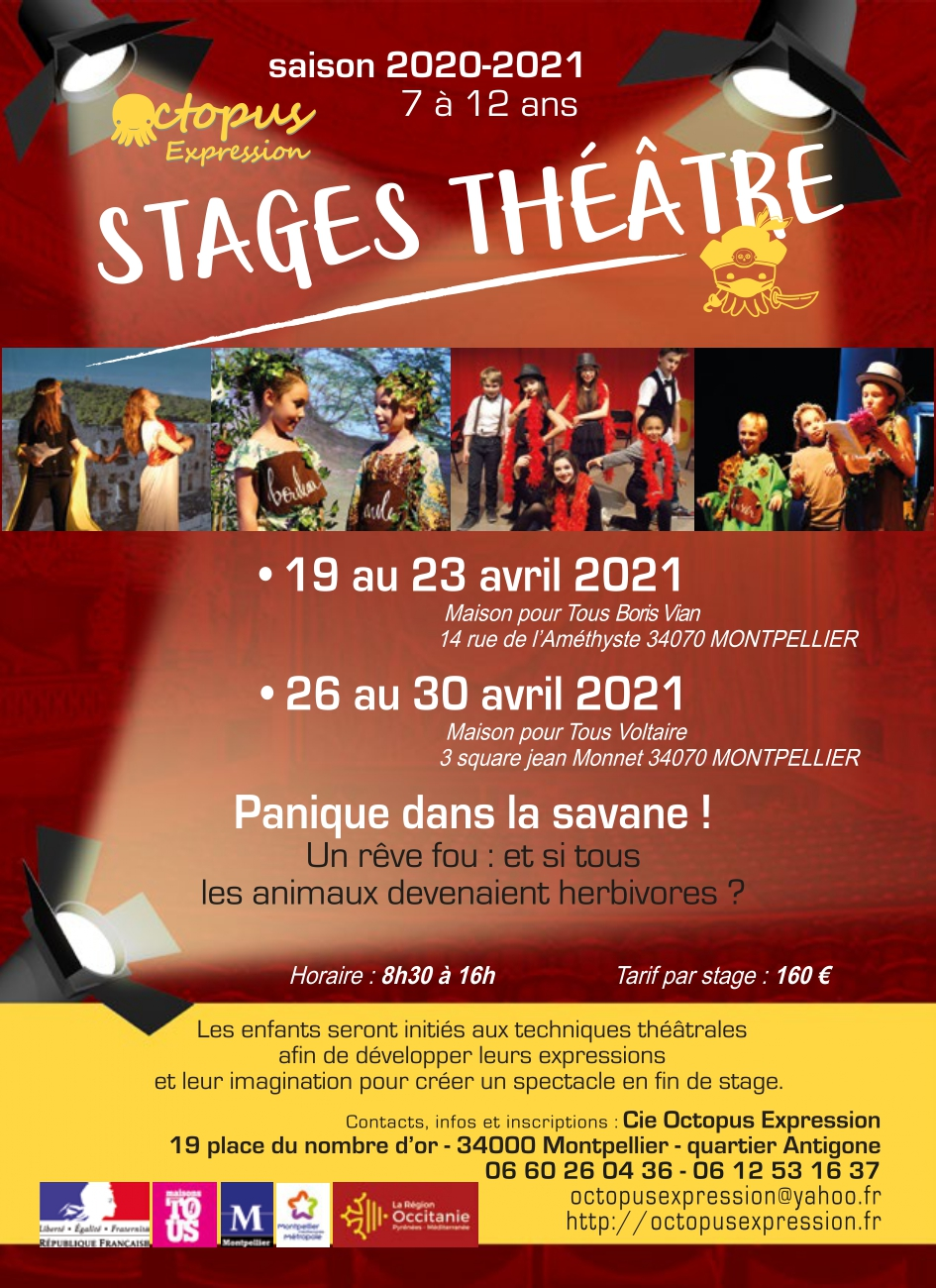 affiche stage avril