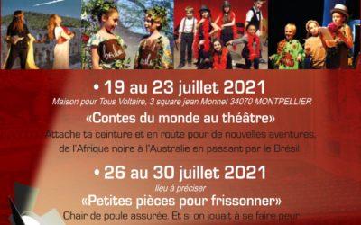 STAGES ENFANTS 19 AU 23 JUILLET ou 26 AU 30 JUILLET 2021